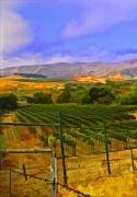 Vineyard Digital Art - Santa Rosa Road Left by Patricia Stalter