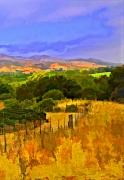 Vineyard Digital Art - Santa Rosa Road Right Side by Patricia Stalter