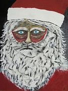 Hard Times Paintings - Santa Stressed Out by Jeffrey Koss