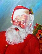 Santa Claus Paintings - Santa by Usha P