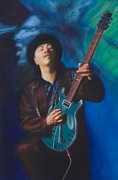 Carlos Santana Paintings - Santana by Angela  Villegas