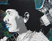 Carlos Santana Paintings - Santana by Erik Pinto