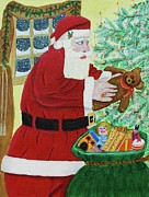 Christmas Eve Paintings - Santas Bag by Gordon Wendling