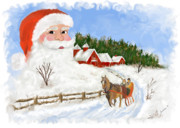 Santas Beard Print by Susan Kinney