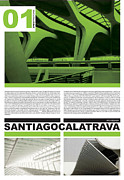 Modernist Prints - Santiago Calatrava Poster Print by Irina  March