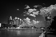 Mujer Prints - Santiago Calatravas Puente De La Mujer Or Womens Bridge In The Docks Area Of Puerto Madero  Print by Joe Fox