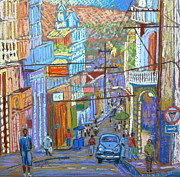 Downtown Pastels Posters - Santiago de Cuba Poster by Rae  Smith PSC