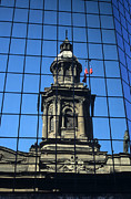 Latin America Photos - Santiago reflections by James Brunker