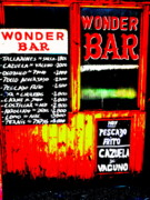Photography.  Prints - Santiagos Wonder Bar  Print by Funkpix Photo  Hunter