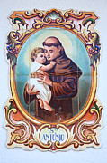 Catholic Framed Prints - Santo Antonio de Lisboa Framed Print by Gaspar Avila