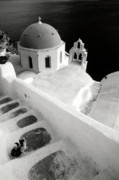 Photography Of Black Cats Photos - Santorini 022 by Manolis Tsantakis