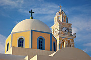 Thira Framed Prints - Santorini Church Framed Print by Brian Jannsen