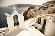 Narrow Focus Framed Prints - Santorini Island, Cyclades, Greece Framed Print by Slow Images