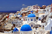 Greece Photo Metal Prints - Santorini Island. Metal Print by Fernando Barozza