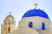 White Church Posters - Santorini Poster by Joana Kruse