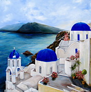 Greece Paintings - Santorini by Patricia DeHart