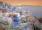 Santorini Sunrise Print by Joseph Hendrix