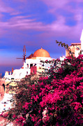 Beautiful Landscape Photos Digital Art - Santorini by Tom Prendergast