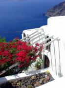 Thira Framed Prints - Santorini Villa  Framed Print by Julie Palencia