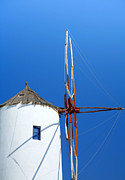 Thira Framed Prints - Santorini windmill Framed Print by Paul Cowan