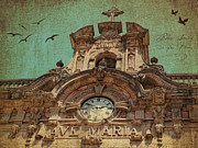 Monastery Mixed Media - Santuari de Santa Maria de Lluc by Angela Doelling AD DESIGN Photo and PhotoArt