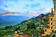 Chuck Kuhn Art - Sapa Village by Chuck Kuhn