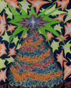 Fantasy Tree Pastels - Sapin Noel 2 by Robert  SORENSEN