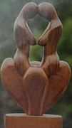 Lesbian Sculptures - Sapphic by Indian Wooden Craft