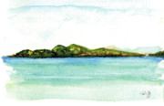 Virgin Islands Paintings - Sapphire Bay 2 by Paul Gaj