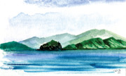 Tropics Paintings - Sapphire Bay by Paul Gaj
