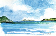 Virgin Islands Paintings - Sapphire Bay Towards Tortolla by Paul Gaj