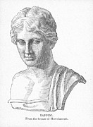 7th Century Photos - SAPPHO (fl. c600 B.C.) by Granger