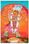 Saptashrungi Devi Nasik Maharashtra Print by Kalpana Talpade Ranadive