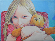 Custom  Studio Paintings - Sara and Her Special Bear  by Jeff Taylor