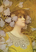 Muted Painting Prints - Sarah Bernhardt Print by Paul Berthon