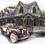 Mike Hill Art - Sarah Elizah the Packard by Mike Hill