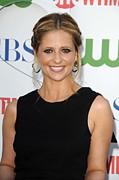 Updo Metal Prints - Sarah Michelle Gellar At Arrivals Metal Print by Everett
