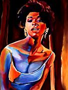 Singers Paintings - Sarah Vaughan by Vel Verrept