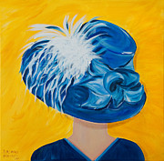 Kentucky Derby Painting Originals - Saras 2011 Derby Hat by Dani Altieri Marinucci