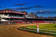 Horse Race Framed Prints - Saratoga Race Track Framed Print by Don Nieman