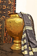 Water Jug Art - Saree Draped Urn by Kantilal Patel
