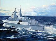 Navy Paintings - Sas Amatola by Tim Johnson