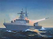 Navy Paintings - Sas Mendi by Tim Johnson