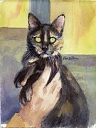 Tortie Paintings - Sascha by Mimi Boothby