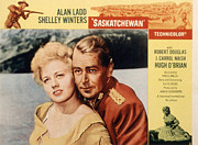 1950s Movies Framed Prints - Saskatchewan, Shelley Winters, Alan Framed Print by Everett