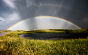 Summer Storm Posters - Saskatchewan Storm Rainbow  Poster by Mark Duffy