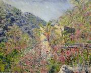 Soleil Posters - Sasso Valley Poster by Claude Monet