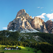 Color Image Framed Prints - Sassongher At Sunrise, Alta Badia Framed Print by Matteo Colombo