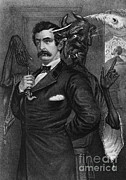 John Booth Posters - Satan Tempting John Wilkes Booth Poster by Photo Researchers