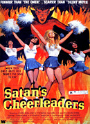 1970s Poster Art Framed Prints - Satans Cheerleaders, 1977 Framed Print by Everett